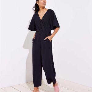 NWT short sleeve black jumpsuit Ann Taylor loft